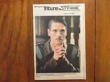 Jan 17-1982 Minneapolis Tribune TV Mag(JEREMY IRONS/NANCY CARTWRIGHT/DIANA QUICK