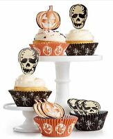 Martha Stewart Collection Halloween Cupcake Liners and Toppers New 48 Count Each