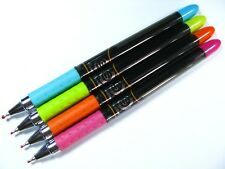 12 x QUANTUM S100  All Blue Ink Ball Point Pen pack set black body size 0.7mm