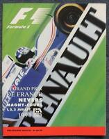 FRENCH GRAND PRIX MAGNY COURS F1 Race Programme 1994