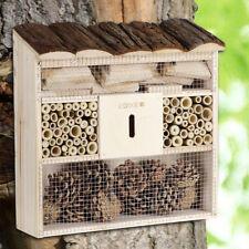 "Insektenhotel ""Bug's Inn"" Insektenhaus Brutkasten Bienen Holz Nisthilfe 31x31cm"