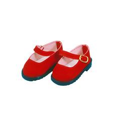 Schildkröt Puppenkleidung, Velour Schuhe für 49 cm Puppen mit ca. 7 cm Füßen