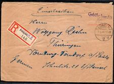 GERMANY 1946 FIELDPOST FELDPOST ACTIVE SERVICE REGISTERED COVER FROM LUBECK