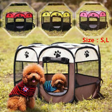 Pet Cat Dog Playpen Tent Portable Exercise Fence Kennel Cage Soft Crate House