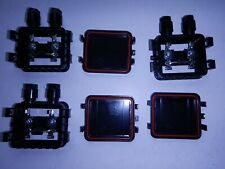 Three Solar panel junction box solar cells diy 3x6 6x6 simple to use waterproof