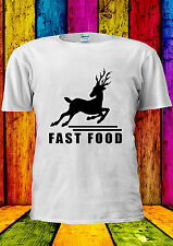 Fast Food Deer Funny Running Swag T-shirt Vest Tank Top Men Women Unisex 2072