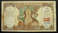"""100 Francs  """"Nouméa""""  surchargé  """"Papeete"""" - 1963"""
