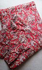 RALPH LAUREN Marseilles Danielle QUEEN Comforter Red Floral EUC Quilt