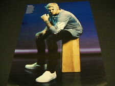 JUSTIN BIEBER sitting on block of wood 2105 PROMO POSTER AD