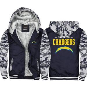 San Diego Chargers Hoodies Thicken Fleece Sweatshirt Winter Warm Jacket Fan Gift