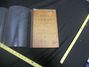 Atlas Antique Old German Book Maps 1899