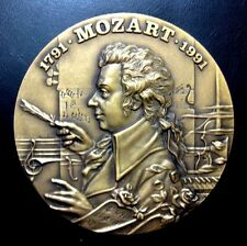 Classical Music / Famous Austrian Composer Mozart / Great BIG Bronze Medal N122