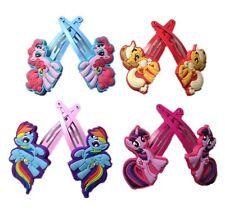 4 Pair Set My little Pony Baby Kids Girls Hairpins Hair Clip Accessories