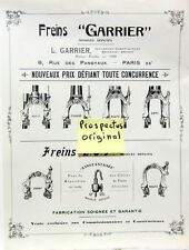 FREINS GARRIER AVANT COURSE ROUTE DAME PROSPECTUS ANCIEN ORIGINAL CYCLE VELO