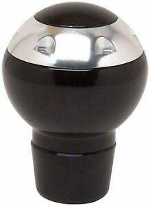 NEW UNIVERSAL MANUAL APC SHIFT KNOB BLACK & CHROME CAR TRUCK SUV CUV MINIVAN
