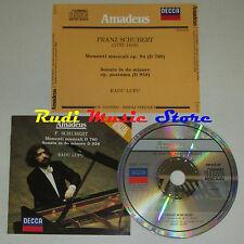 CD SCHUBERT Momenti musicali d 780 Sonata do minore d 958 RADU LUPU  lp mc dvd