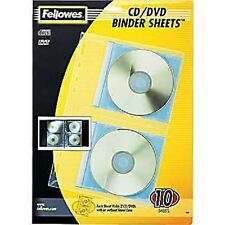 Fellowes® Vinyl CD/DVD Protector Sheets for Three-Ring Binders (FEL95304) 10PK