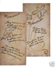 """Carson Life's Canvas.Memories Plaques, Set of 2 Plaques 6"""" x 12"""" each"""