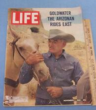 Vintage 1963 Life Magazine November 1 Goldwater The Arizonan Rides East on Cover