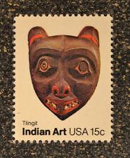 1980USA   #1836 15c Indian Art - American Folk Art Masks Tlingit Tribe  Mint NH