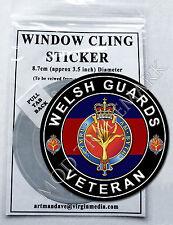 WELSH GUARDS VETERAN WINDOW CLING STICKER  8.7cm Diameter