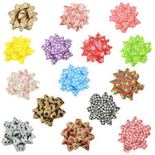 Self-Adhesive Pre-tied Star Bows, 2-Inch, 25-Piece
