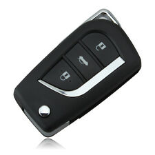 3 Button Remote Flip Foldable Shell Key Car Fob For Toyota Corolla EX VIOS toy43