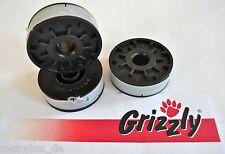 3x Ersatzspule Grizzly ERT 530 R, ERT530R Rasentrimmer Ersatz Spule Fadenspule