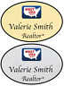 1 GOLD & 1 SILVER WEST USA REALTY PERSONALIZED NAME BADGES SAFETY PIN FASTENER