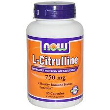 NOW Foods-L-Citrulline, 750 mg, 90 capsule, sana del sistema immunitario, funzione