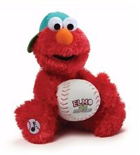 "Gund Sesame Street 13"" Plush ELMO BASEBALL PLAYER ~NEW~"