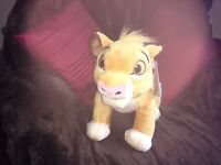 "OFFICIAL DISNEY STORE 14"" MEDIUM SIMBA THE LION KING SOFT TOY PLUSH NEW TAGS"