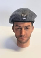 Banjoman 1:6 Scale Custom Made Beret - WW2 Grey Polish Airbourne With Patch