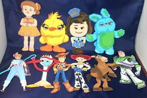 TOY STORY GLITTER BIRTHDAY PARTY SUPPLY DECORATION FOAM FOMI FIGURES  10 PACK