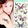 Beauty Colorful Waterproof Temporary Tattoo Butterfly Tattoo Body Art Sticker