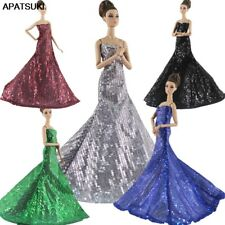 """High Fashion Sequin Party Dress For 11.5"""" 1/6 Doll Clothes Princess Gown Outfits"""