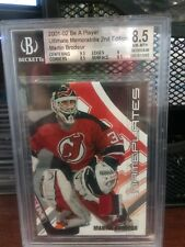 2001-02 Martin Brodeur BAP Ultimate Memorabilia Nameplates, Beckett Graded