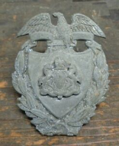 Unknown obsolete vintage Pennsylvania State coat of arms uniform badge Police?