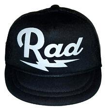 Rad Radical  Baby Newborn Infant Mesh Trucker Hat Cap Snapback BLK