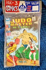 Vintage MODERN COMICS ( CHARLTON REPRINT ) SEALED 3 PK RACK PACK