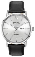 Bulova Clasic American Clipper Automatic Silver Dial LTHR Band Men Watch 96C130