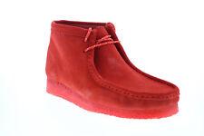 Clarks Wallabee Boot 26154745 мужские красные замшевые на шнуровке ботинки chukkas