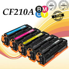 5 PK For HP Laserjet pro 200 m251nw Toner Cartridge Set CF210A - CF213A 131A MFP