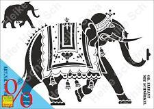 Schablone-Stencil A3 174-0734 Orientalischer Elefant -Neu- Heike Schäfer Design
