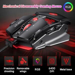 G9 Gaming Mouse USB Wired 6400 DPI 8 Buttons RGB Backlight For PC Laptop Gamer