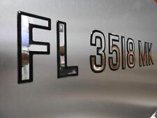 Boat Registration Numbers Domed Numbers Raised Decal (Super Wake Series)