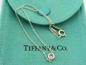 TIFFANY & CO Sterling Silver Pink Sapphire Color by the Yard Bracelet