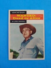 1958 TOPPS TV WESTERNS #21 STEVE MCQUEEN as JOSH RANDALL  VG CREASED