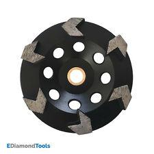 "5"" Arrow Seg Diamond Grinding Wheels For Concrete Epoxy Grinding 7/8""-5/8"" Arbor"