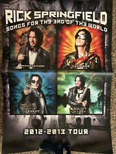 RICK SPRINGFIELD Songs for The End of The World 2012- 2013 tour concert poster